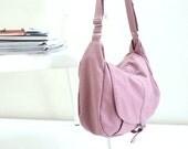Back to School SALE 25%  -Kylie in Pale Pink Messenger bag / Shoulder bag / Diaper bag / Tote bag / Purse / Handbag / Women / School Bag