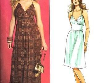 Halter Dress Pattern Sundress 2007 Butterick Sewing Uncut Women's Misses Size 14 - 20 Bust 36 - 42 Inches