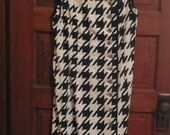 SALE Vintage Mod Check Black and White Summer Dress Label Size 6