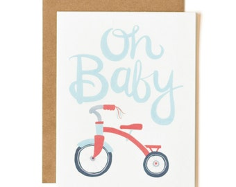 Oh Baby Illustrated Card