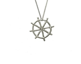 Ship Wheel Necklace 3D