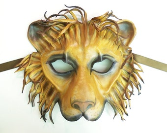 Leather Lion Mask