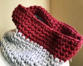 Color Block Chunky Cowl - ready to ship!