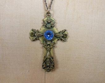 20s necklace / Beautiful Vintage 1920's Cross Pendant Necklace