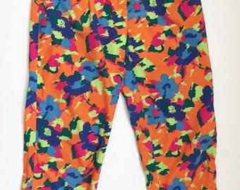 Vintage 90s Floral Camo Print Rad Pants