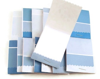 20 Matchbook Notepads   Match Books Mini Note Pads in Paint Chip Blue