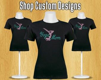 Yoga Mom Rhinestone T-Shirt