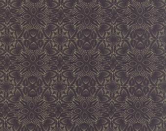 Moda Black Tie Affair 30423 16 Black and Tan Doily by the yard