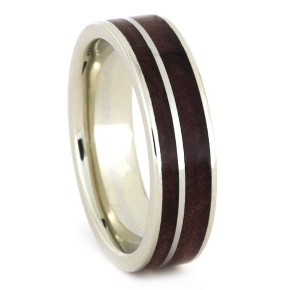 gold wood ring 10k white gold wedding band with by