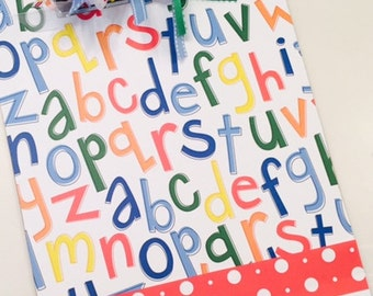 Teacher Alphabet Clipboard Personalized for Free Great Christmas Gift