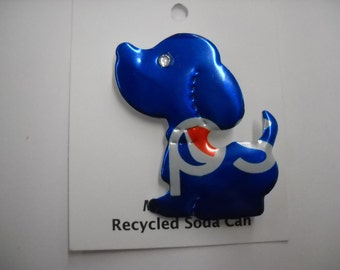 Magnetic Pepsi Dog Recycled Can