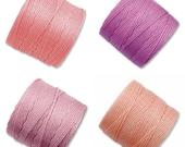 S-Lon Bead Cord Tea Rose Mixture 0.5mm Diameter 28588 (4 spool) Pink S-lon, Braiding Cord, Crochet Thread, Stringing Cord, Macrame Cord