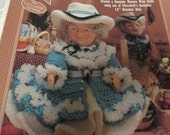 Crochet Doll Clothing Crocheting Pattern Western Grandma Fibre Craft FCM 418