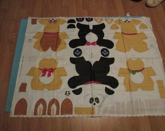 Cut Sew and Stuff Fabric Panel to Make 3 Stuffed Petable Animal Doll Toys Cheryl Ann Johnson