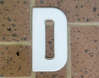 Vintage Metal Sign Metal Letter D Sign Chippy Painted Letter D Old Rusty Letter D Antique Marquee Letter D