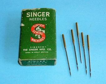 Vintage Singer Sewing Machine Needles Size 16 Five Vintage Singer Sewing Machine Needles