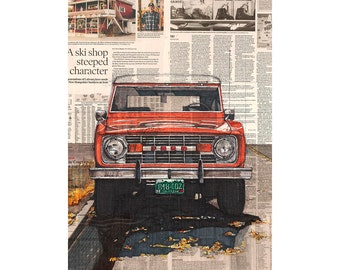 Bronco No. 1 art print