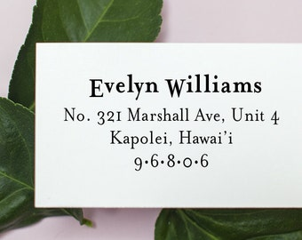 Address Stamp, Custom Address Stamp, Return address stamp, Personalized Rubber Stamp, Invitations, Self Inking Rubber Stamp - 1004