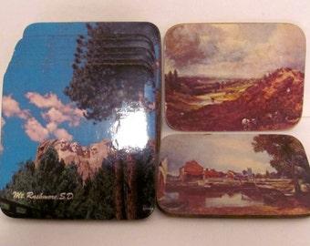 Vintage Mt. Rushmore Cork Coasters