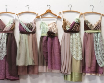 Custom Bridesmaids Dresses in Fall Colors