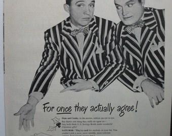"Movies ... 129  ""Bing Crosby and Bob Hope for U.S. Savings Bonds"" Ad  -  December 1947"