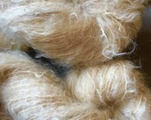 Brushed Mohair Yarn, Naturally Dyed with Rooibos Tea, Waldorf Doll Hair, 3.5 ounces,
