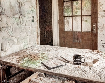Midlife Crisis in Progress, Abandoned Asylum, Old Dilapidated Room, Urban Exploration Photography, Mysterious and Creepy Places