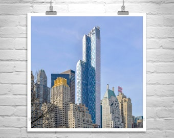 New York City, Skyline Art, Square Picture, Manhattan Photo, New York Print, City Art, Urban Art, Cityscapes, NYC, Skyscrapers, Square Art