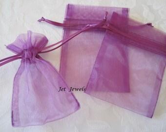 20 Jewelry Gift Bags, Drawstring Bags, Purple Bags, Wedding Favor Bags, Gift Bag, Favor Bags, Small Gift Bags, Sachet Bags, Organza Bags 3x4