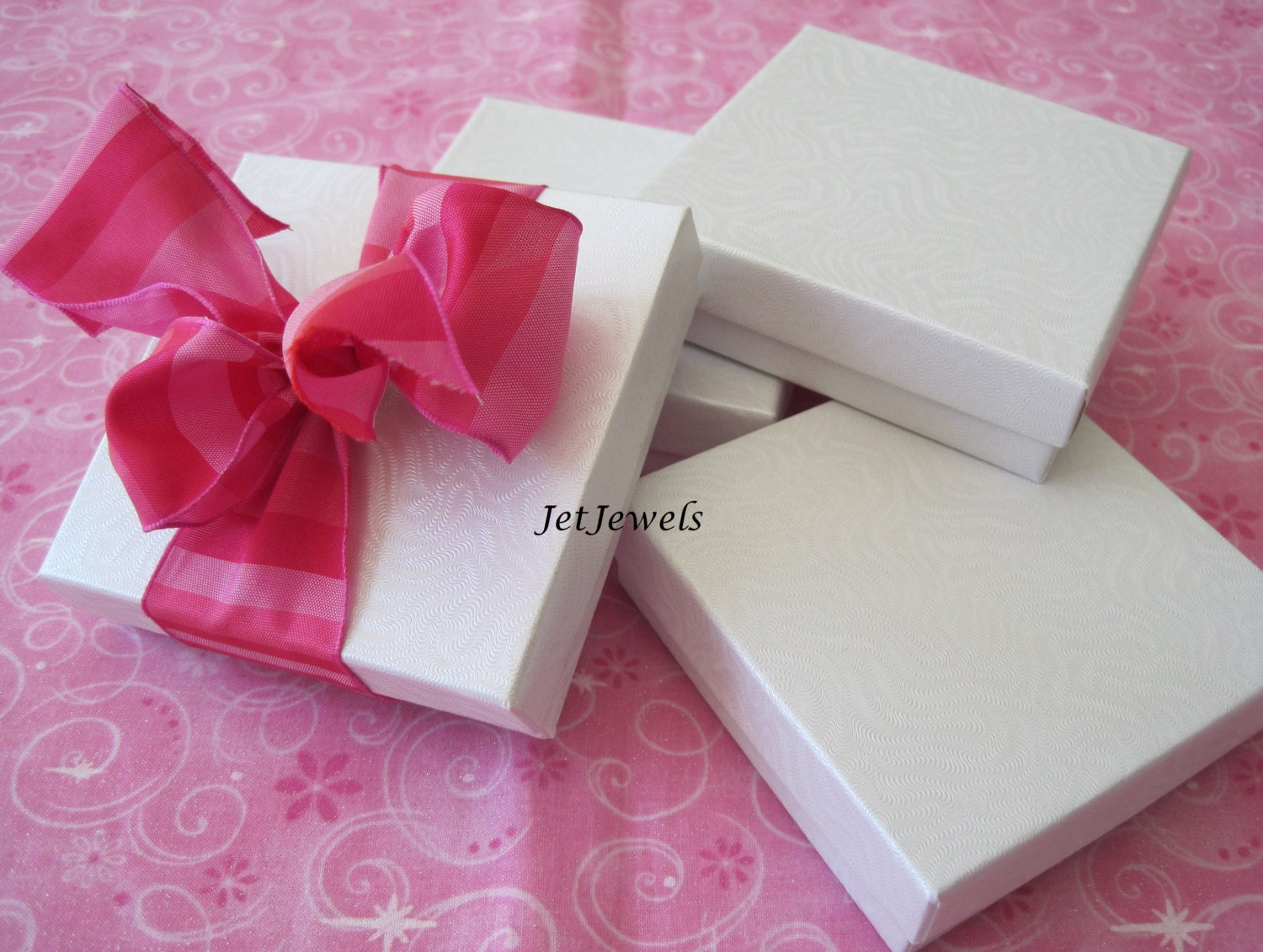 10 Jewelry Gift Boxes White Gift Boxes Kraft Boxes Wedding Favor Boxes Bridesmaid Gift Box