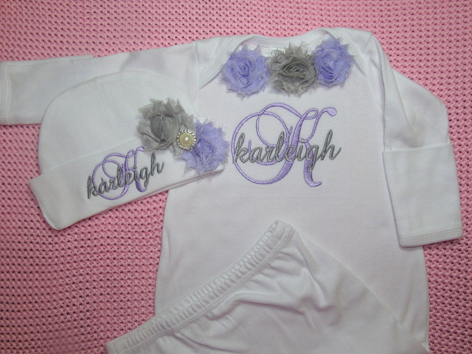 Personalized baby girl clothes coming home outfit