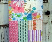 Upcycled Vintage Sheet Patchwork Baby Quilt