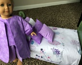 BIRDIES I - 9-Piece Bedding Set with P.J.'s for 18-Inch and American Girl Dolls