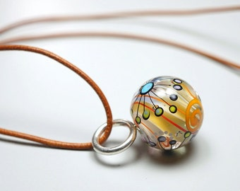 Hand Blown Glass // Marble Bead // Blown Glass // Focal Lampwork Bead