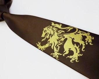 Lion Rampant necktie brown