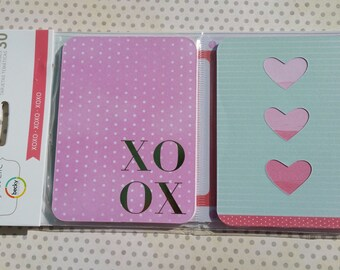 Project Life Cards - XOXO Love Themes - Scrapbook Journal Cards - 30 Cards