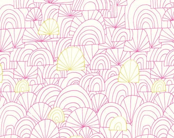 ON SALE - Revelry in Spree by Lisa Congdon for Cloud 9 Fabrics - Organic Cotton Voile Fabric