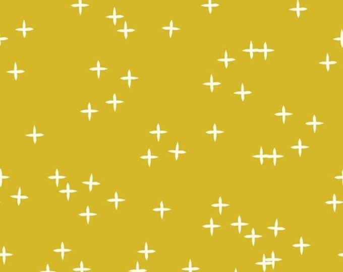 Mod Basics 3 - Wink in Marigold by Birch Fabrics - Double Gauze Organic Cotton Fabric