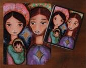 On Sale - Price already reduced - Nativity Stars - Art Puzzle - Folk Art By FLOR LARIOS