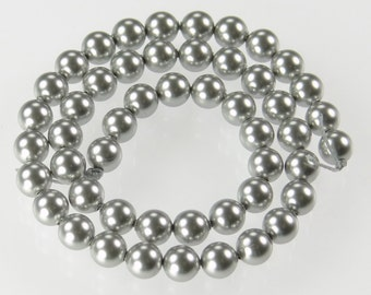 Set of 50 Genuine Swarovski 5mm Pearls in Light Grey 5810