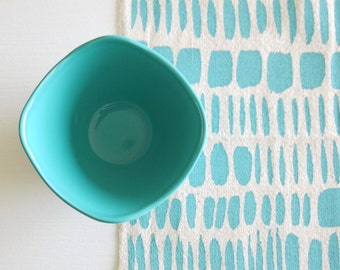 Brushstrokes - screenprinted fabric - chalky colours