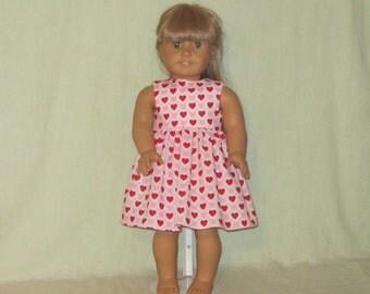American Girl 18 inch Doll Dress Hearts