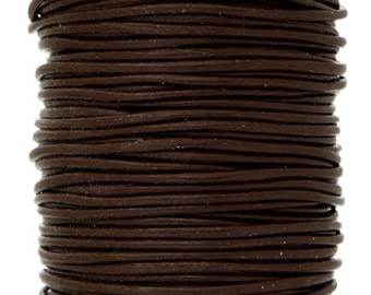 2 Meters (6.56 Feet Approx.) Genuine Leather Cord - Round - Brown 0.5mm (2311902)