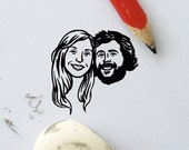 Personalized gift Wedding favors Custom portraits Save the date / Drawing / custom couples / bachelorette wedding bridal party bridesmaid