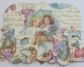 """ALL MY LOVE - Designer Chipboard Letters &  Floral Alphabets  Die cuts - Graphic 45 Sweet Sentiments ... 1.5"""" Tall"""