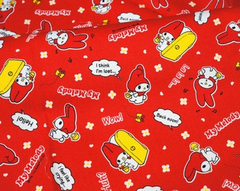 Sanrio fabric my melody Fat Quarter