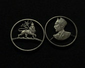 Set Sail with my Cut Coin Set Sale! Super Duper Discounts on Crazy Cut Coins - HALF PRICE - Haile Selassie & Lion of Judah - RASTAFARIAN SeT