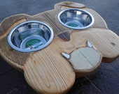 The Bulldog Rustic Elevated Dog Feeder