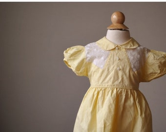 ON SALE 1940s Spring Embroidered Dress~Size 18 Months