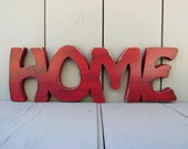 rustic distressed wood home sign shabby chic decor wall hanging choice of 49 colors